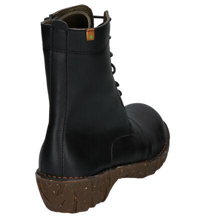 El Naturalista Yggdrasil Zwarte Boots met Rits/Veter Vegan in vegan (226184)