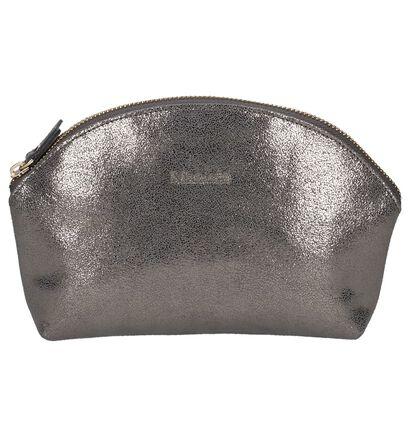 Mazarin Zwart Make-up Tasje, Zilver, pdp
