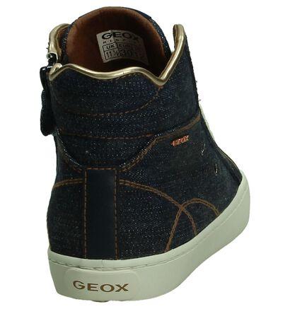 Blauwe Geox Hoge Sneakers Jeans in leer (190702)