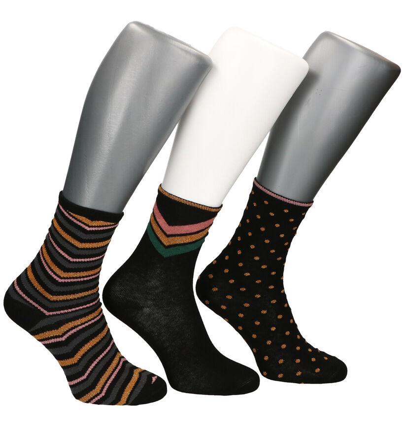 Teckel Socks Chaussettes en Noir - 3 Paire (281314)