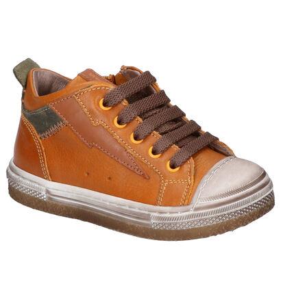 STONES and BONES Lino Chaussures hautes en Jaune en cuir (255448)