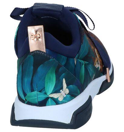 Donkerblauwe Runner Sneakers Ted Baker Cepap in stof (241626)