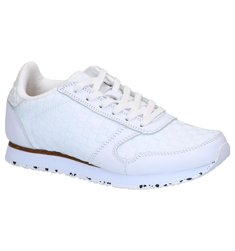 Woden Ydun Witte Sneakers in leer (266519)