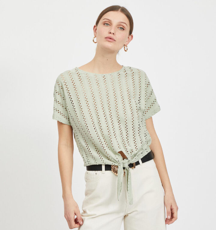 Vila Piline T-Shirt en Vert