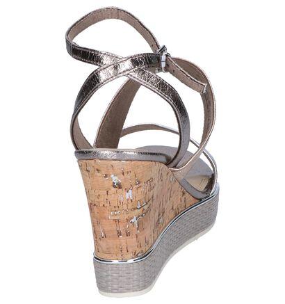 Zilveren Sandalen Marco Tozzi , Zilver, pdp