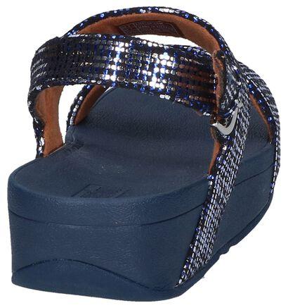 Blauwe Sandalen Lottie Chain Print , Blauw, pdp
