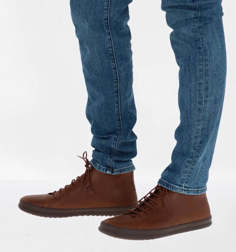 Camper Chaussures hautes en Noir en cuir (282097)