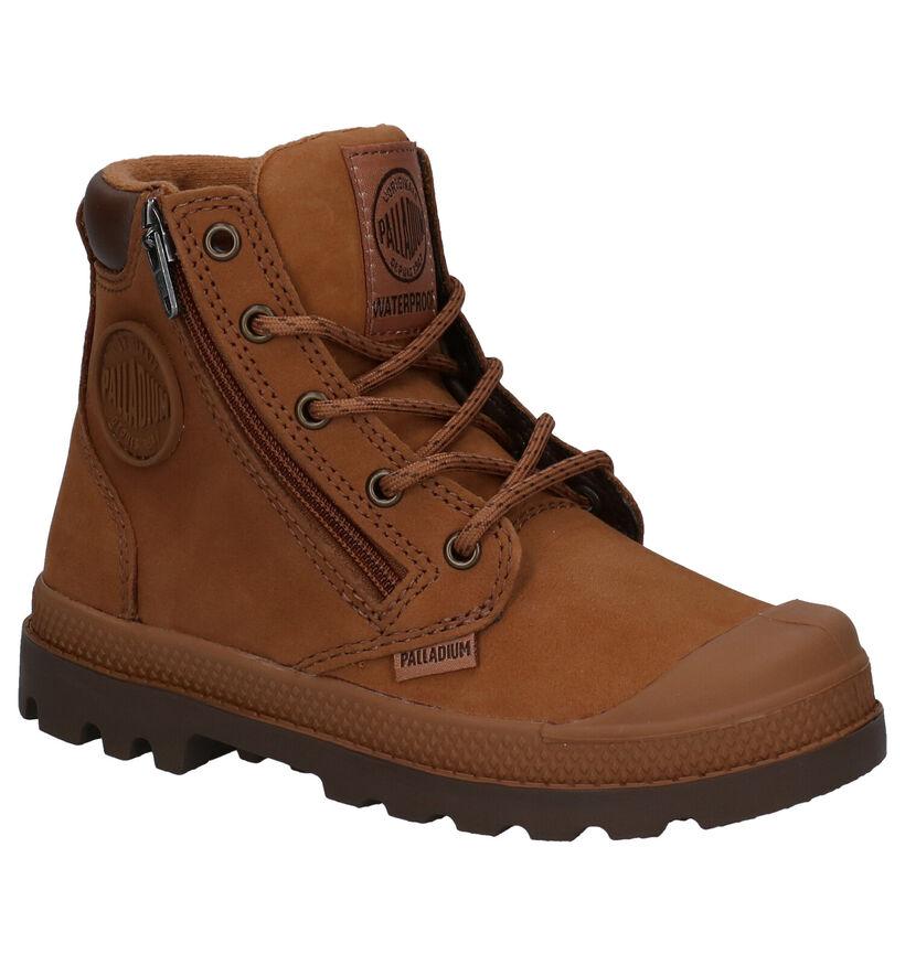 Palladium Pampa Hight Cuff Zwarte Boots in leer (256243)