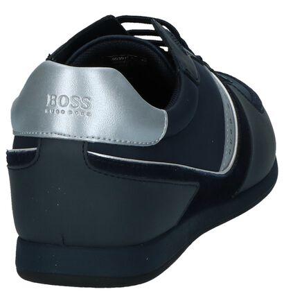 Donker Blauwe Casual Schoenen Hugo Boss Glaze Low Tech, Blauw, pdp