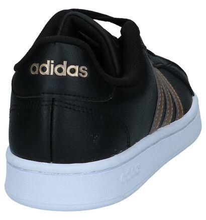 Zwarte Sneakers adidas Grand Court, Zwart, pdp