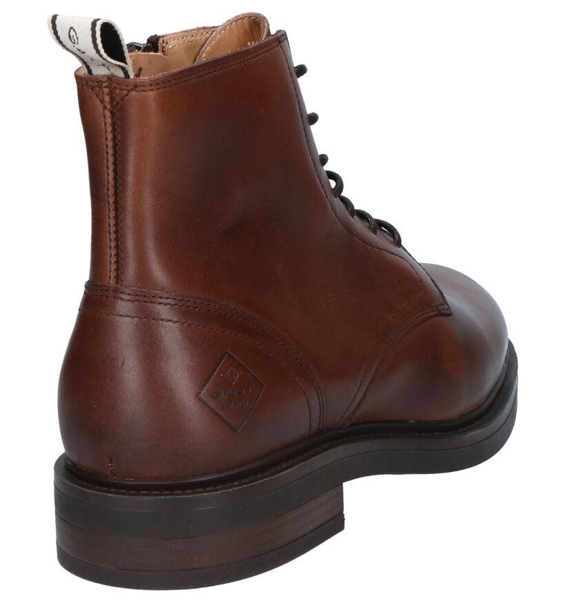 Gant Martin Boots en Cognac en cuir (261320)