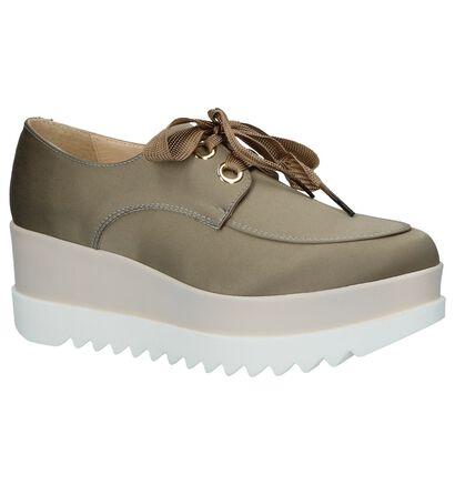 Louisa Chaussures à lacets  (Vert kaki), Vert, pdp