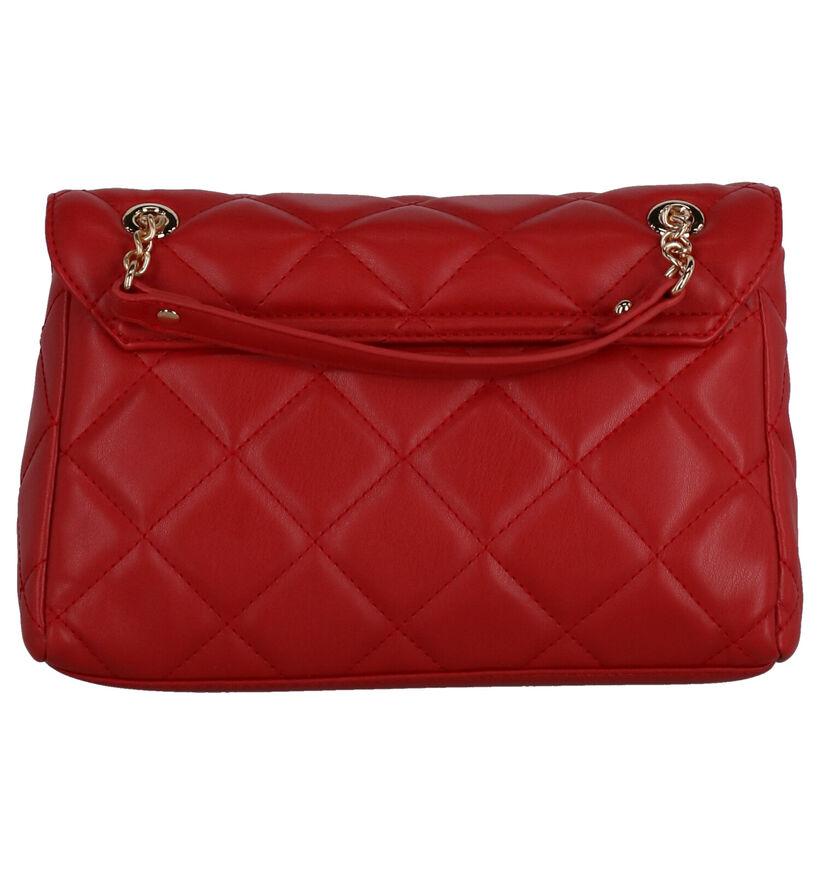 Valentino Handbags Ocarina Sac Porté Croisé en Rouge en simili cuir (275813)
