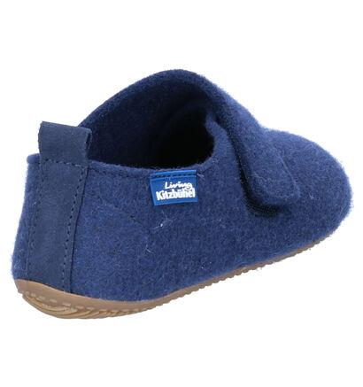 Living Kitzbühel Blauwe Pantoffels in wol (258710)