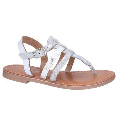 Wit/Zilveren Sandalen Les Tropeziennes Barmi in nubuck (242854)