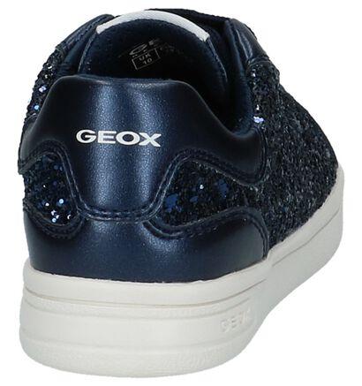 Donkerblauwe Sneakers met Glitters Geox in stof (210485)