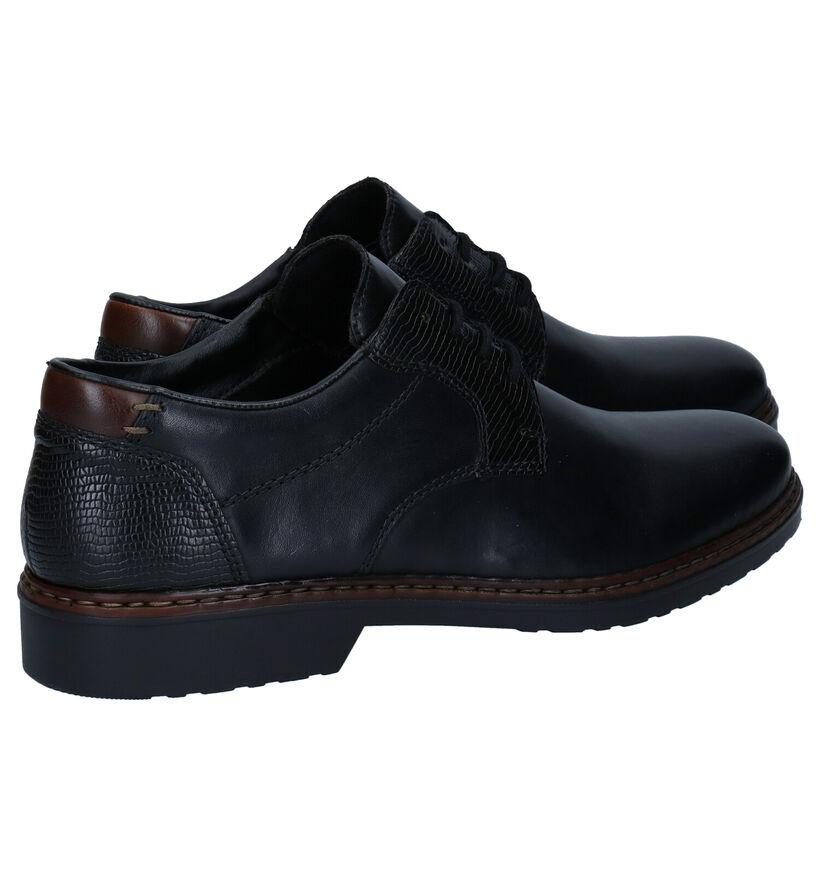 Rieker Chaussures habillées en Noir en cuir (277627)
