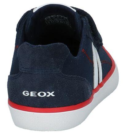 Donkerblauwe Velcroschoenen Geox in daim (237936)