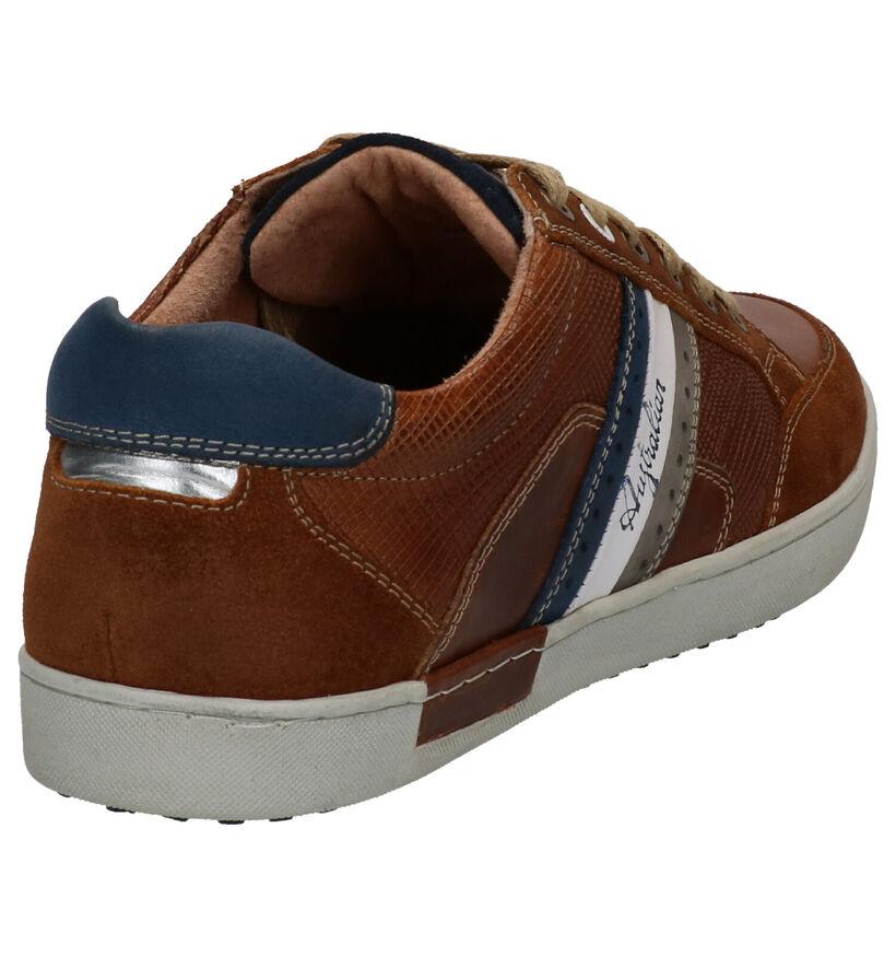 Australian Lombardo Chaussures à lacets en Cognac en cuir (272444)