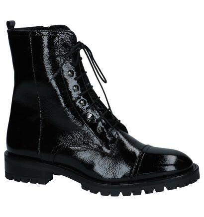 Hampton Bays Zwarte Boots met Rits/Veter in lakleer (223970)