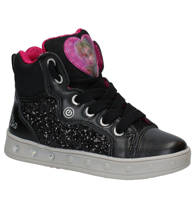 Geox Frozen Zwarte Bottines in kunstleer (278277)