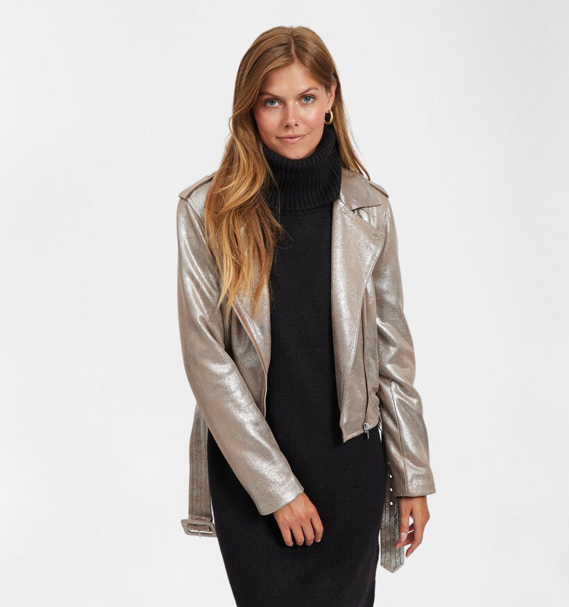Vila Bikerlook Manteau en Bronze (284102)