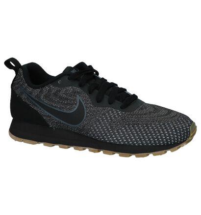 Nike MD Runner Baskets basses en Gris foncé en simili cuir (218319)