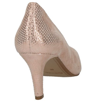 Pumps Tamaris Rose Gold in daim (214259)