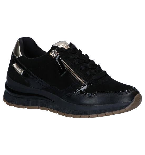 Tamaris Chaussures à lacets en Noir