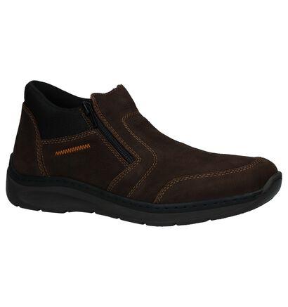 Bruine Boots met Rits Rieker in nubuck (234671)