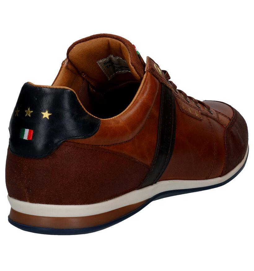 Pantofola d'Oro Roma Low Blauwe Veterschoenen in leer (286409)