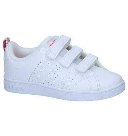 Witte Velcrosneakers adidas VS Advantage Clean in kunstleer (236995)