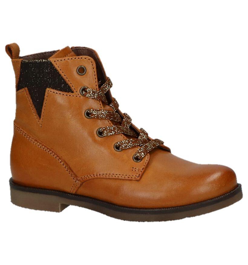 STONES and BONES Chaussures hautes en Cognac en cuir (223379)