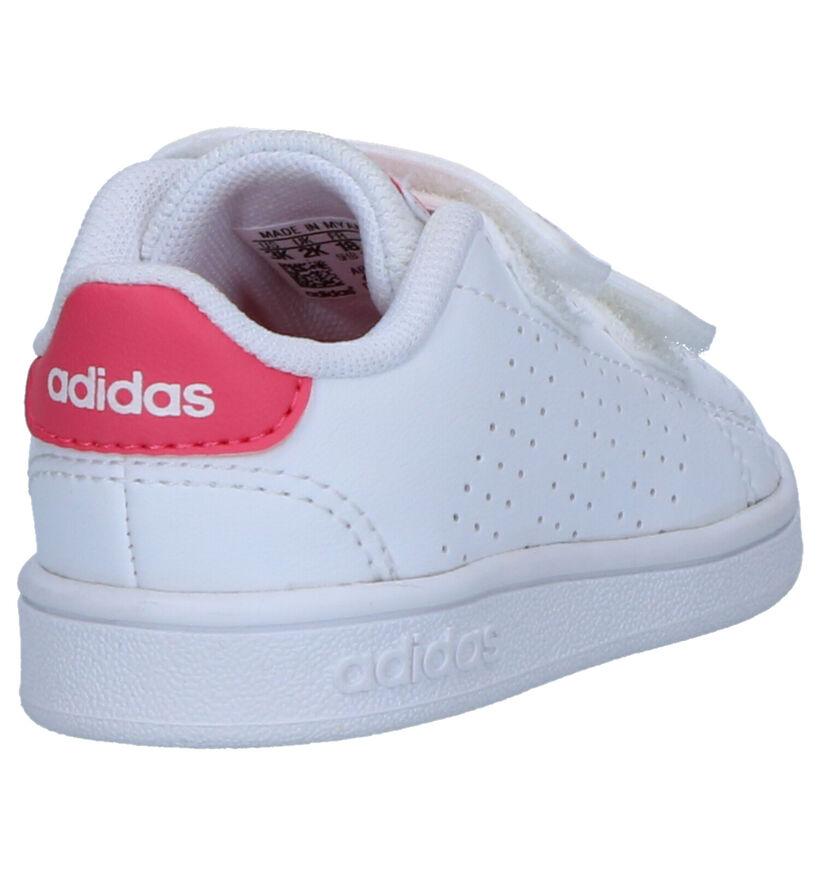 adidas Advantage I Baskets en Blanc en simili cuir (252509)