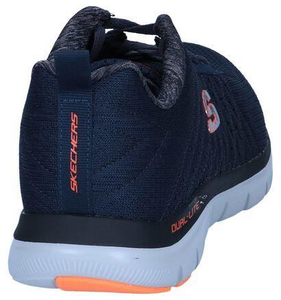 Donkerblauwe Sneakers Skechers, Blauw, pdp