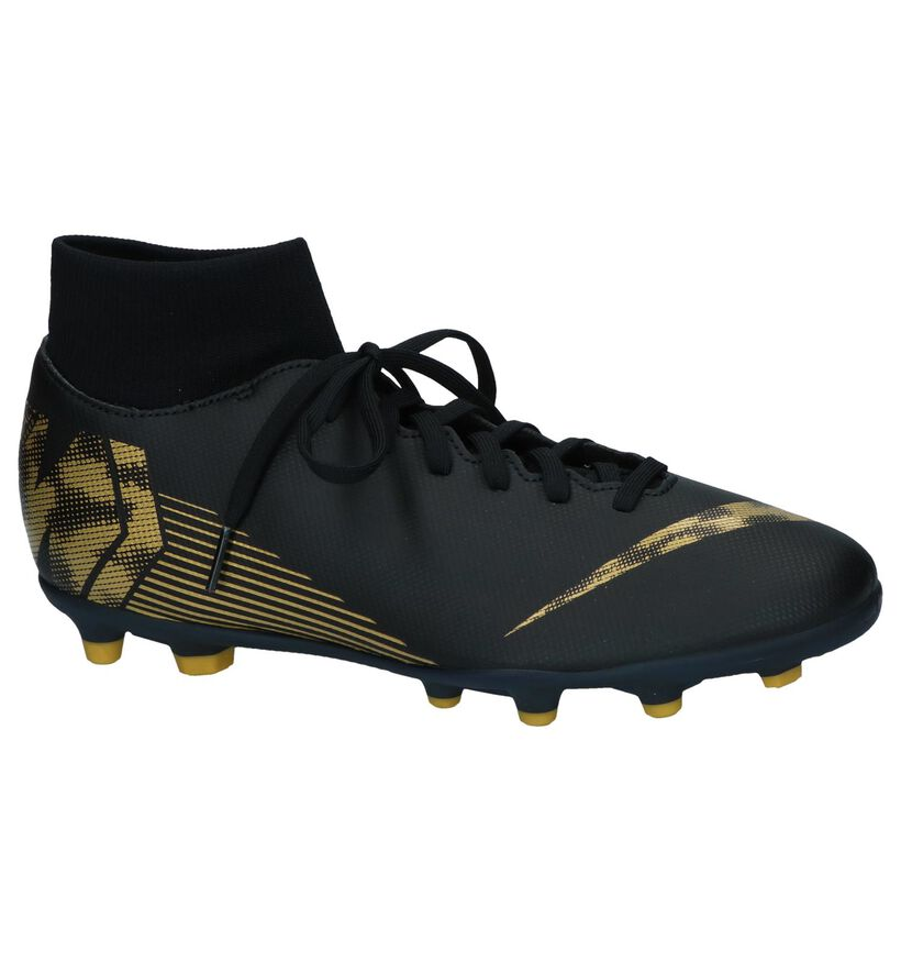 Zwarte Voetbalschoenen Nike Superfly 6 Club in kunstleer (239445)