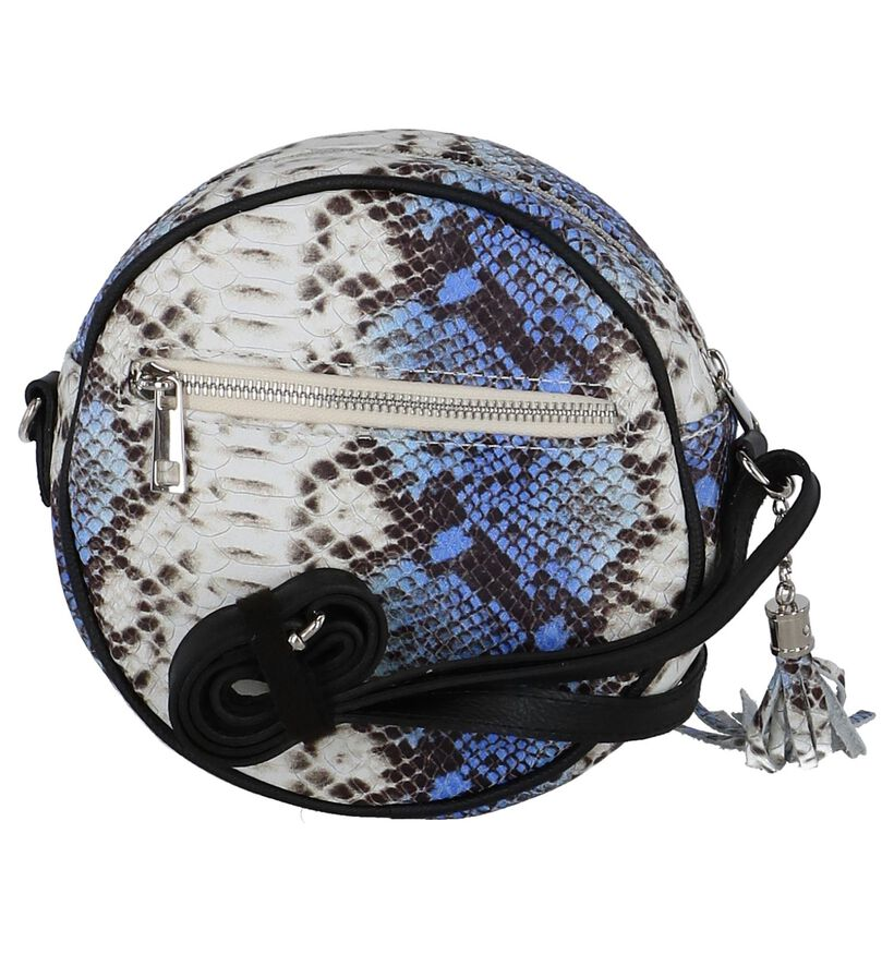 Blauwe Crossbody Tas Dolce C. Circle Bag Leder in leer (255565)