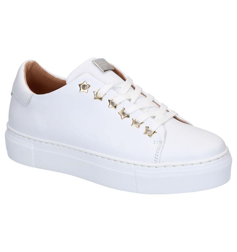 Scapa Witte Lage Sneakers in leer (270355)