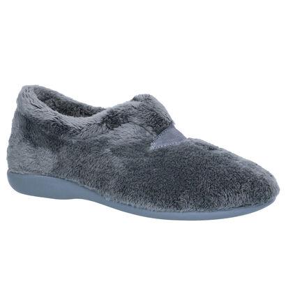 Via Limone Grijze Pantoffels in faux fur (254855)