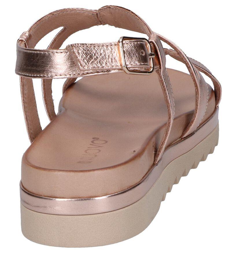 Inuovo Sandales à talons en Or rose en cuir (248754)