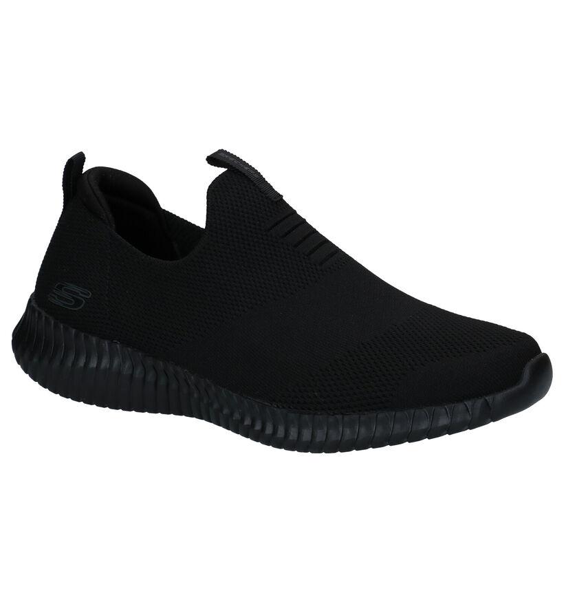 Skechers Elite Zwarte Sneakers in stof (287007)