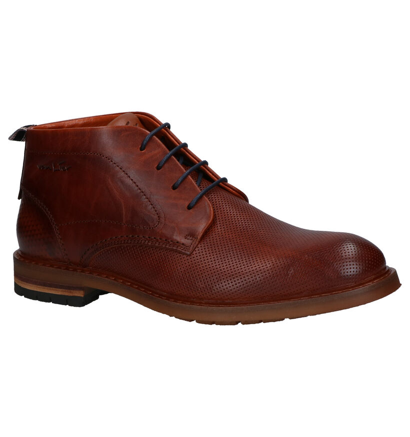 Van Lier Chaussures hautes en Cognac en cuir (261904)