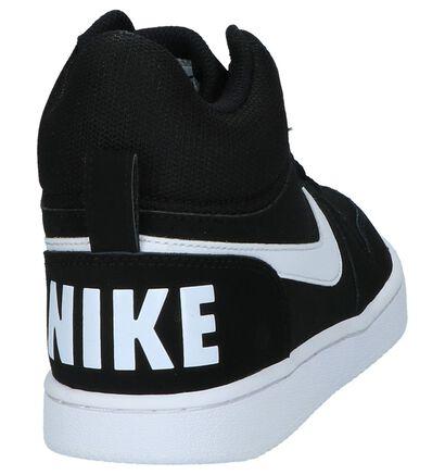 Hoge Sportieve Sneaker Nike Court Borough Zwart in stof (205782)