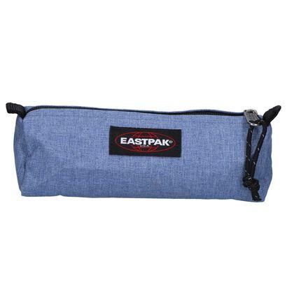 Donkerblauwe Pennenzak Eastpak Benchmark in stof (256317)