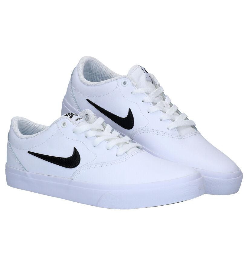 Nike SB Charge Premium Witte Sneakers in kunstleer (277453)