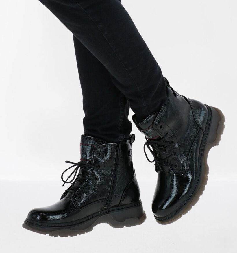Mustang Zwarte Boots in kunstleer (280946)