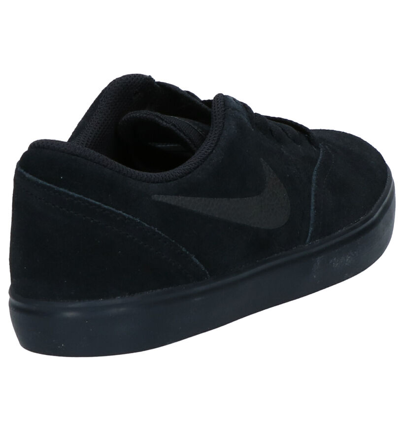 Nike SB Check Baskets en Noir en daim (261659)