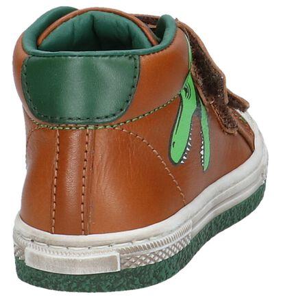 STONES and BONES Chaussures hautes en Cognac en cuir (223455)