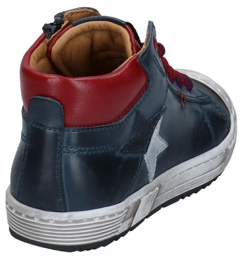 STONES and BONES Baset Chaussures hautes en Cognac en cuir (278899)