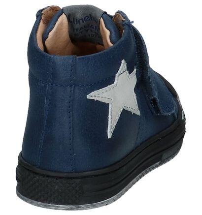 Lunella Chaussures hautes en Bleu foncé en cuir (223023)